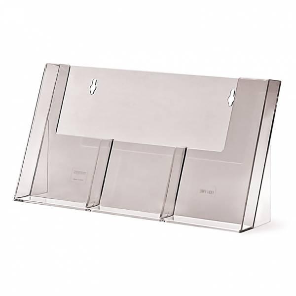 1/3 A4 DL Asztali Brossúratartó állvány