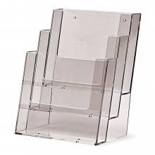 3 szintes A5 Álló Asztali/Fali Szórólaptartó