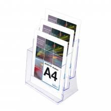 3 sorú A4 Asztali Szórólaptartó