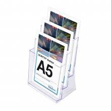 3 sorú A5 Asztali Szórólaptartó