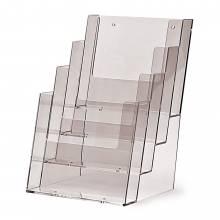 4 szintes A5 Álló Asztali/Fali Szórólaptartó