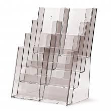 4 szintes 8x1/3 A4 (DL) vagy 4xA4 Asztali/Fali Prospektustartó