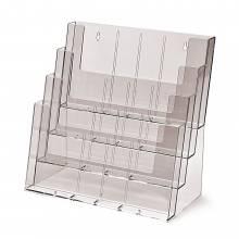 4 szintes 4xA4 fekvő, 12xDL, 8xA5 Asztali/Fali Szórólaptartó