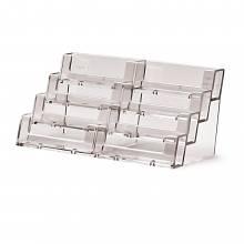 4 szintes x 2 Fekvő Asztali Névjegykártyatartó