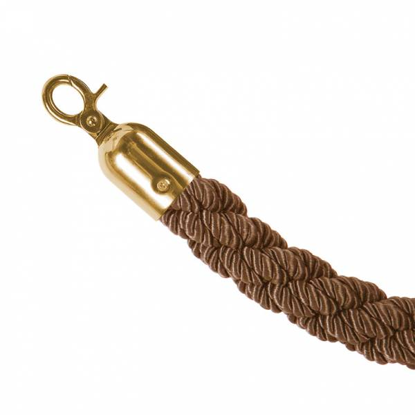 Kordon oszlop kötéllel, bronz/arany