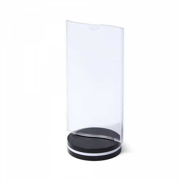 SCRITTO® Műanyag Menütartó Állvány 10x20cm Ívelt