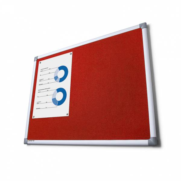 SCRITTO® Szövet tábla Piros 90x180