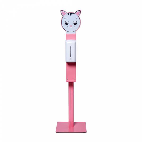 Sanitizer for children with automatic dispenser, pink