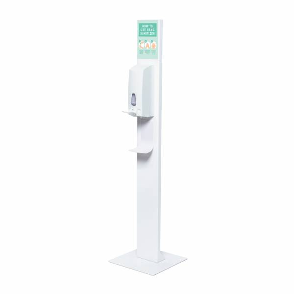 Hand Sanitiser Design Stand With Manual Dispenser