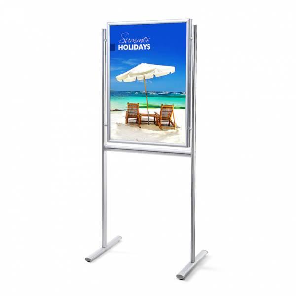Információs tábla kétoldalas, 70x100, szögletes sarok
