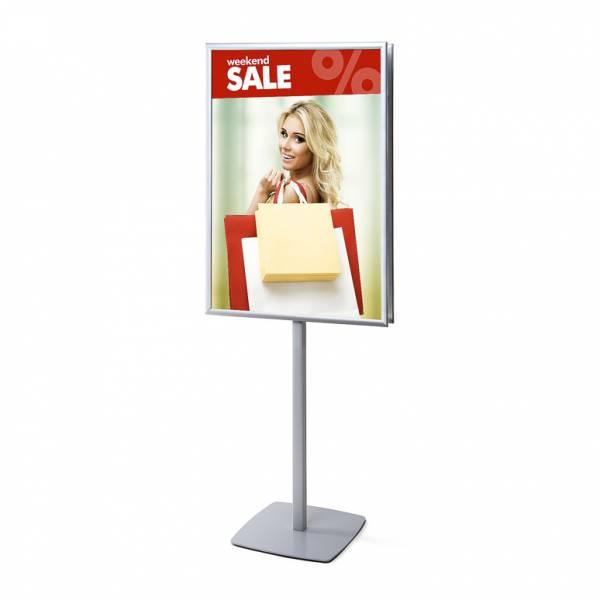 Megfordítható Reklámállvány 70 x 100 cm kétoldalú derékszögű poszterkerettel 25mm