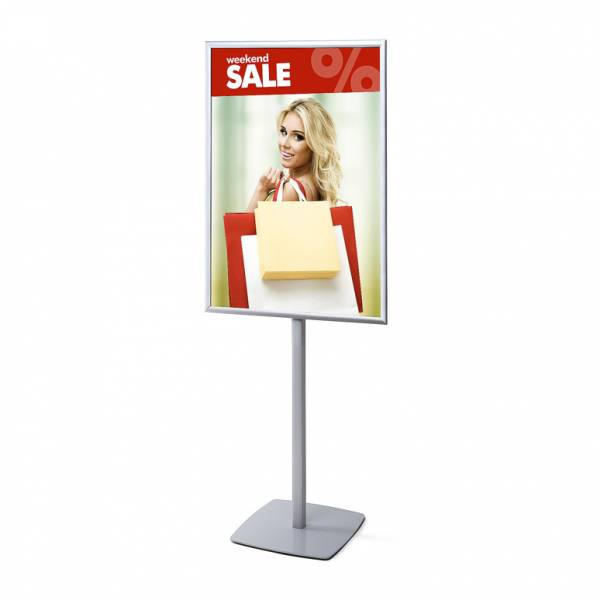 Reklámállvány 70 x 100 cm egyoldalú derékszögű poszterkerettel
