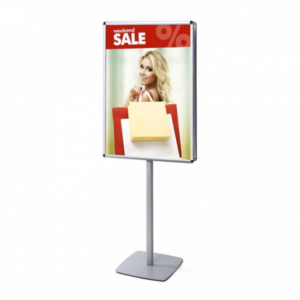 Megfordítható reklámállvány poszterkerettel 70x100 lekerekített sarkokkal 25mm