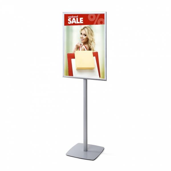 Reklámállvány A1 egyoldalú derékszögű poszterkerettel