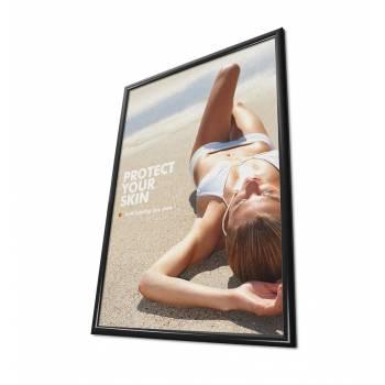 Plakátkeret 70x100, szögletes sarok, 25 mm fekete