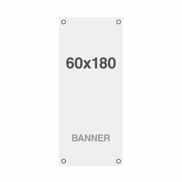 Prémium banner nyomtatás No Curl 220g/m2, matt felület, 60x180cm, lyukakkal a sarkoknál