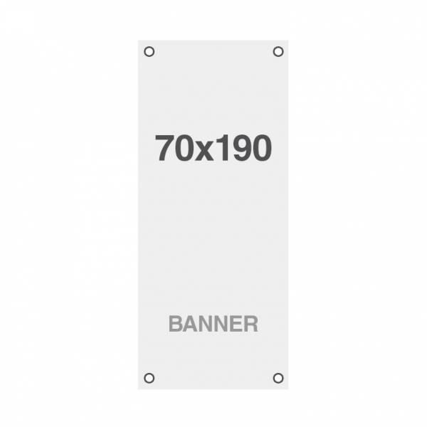 Prémium banner nyomtatás No Curl 220g/m2, matt felület, 70x190cm, lyukakkal a sarkoknál