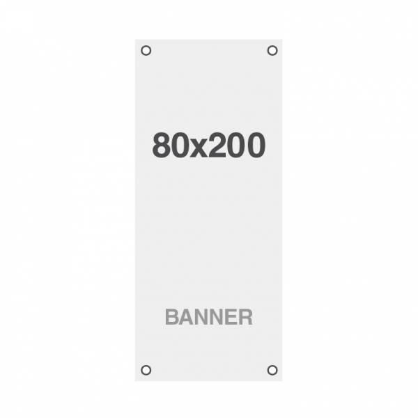 Prémium banner nyomtatás No Curl 220g/m2, matt felület, 80x200cm, lyukakkal a sarkoknál