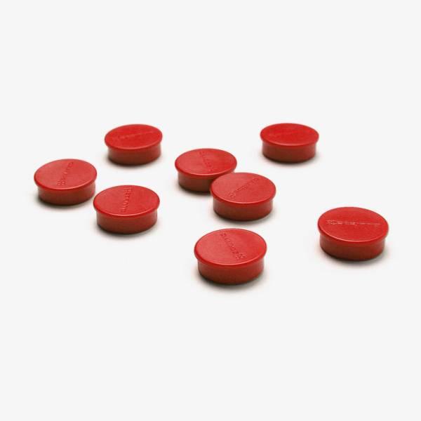 Mágnes szett, piros, 20mm