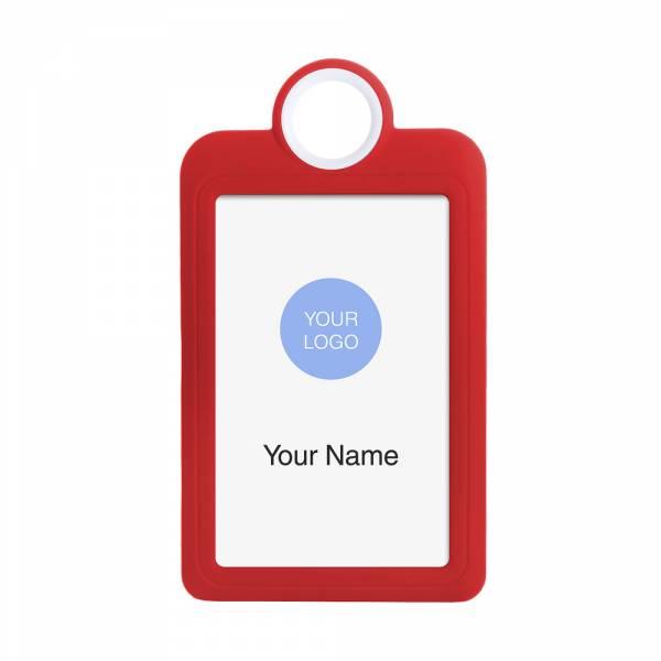 Kártyatartó, álló, piros