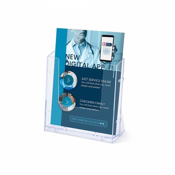 A5 Álló Szórólaptartó - Fali & Asztali Display