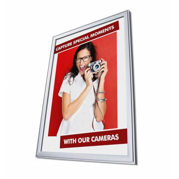 COMPASSO® Plakátkeret 37mm, szögletes sarok, 100x140