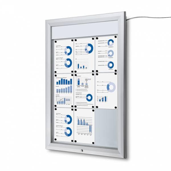 Kültéri LED Világító Vitrin, IP56 időjárásálló védettség