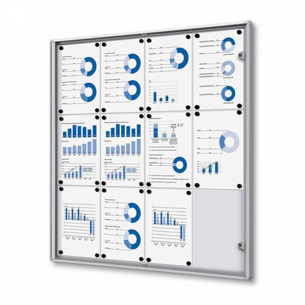 ECO Zárható beltéri vitrin 12xA4