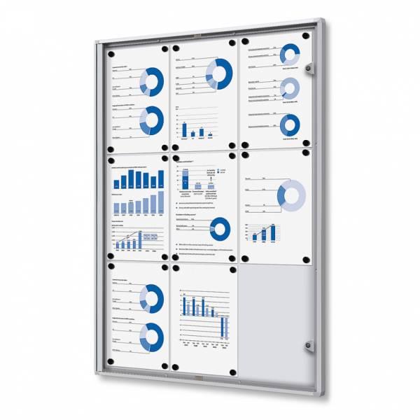 ECO Zárható beltéri vitrin 9xA4