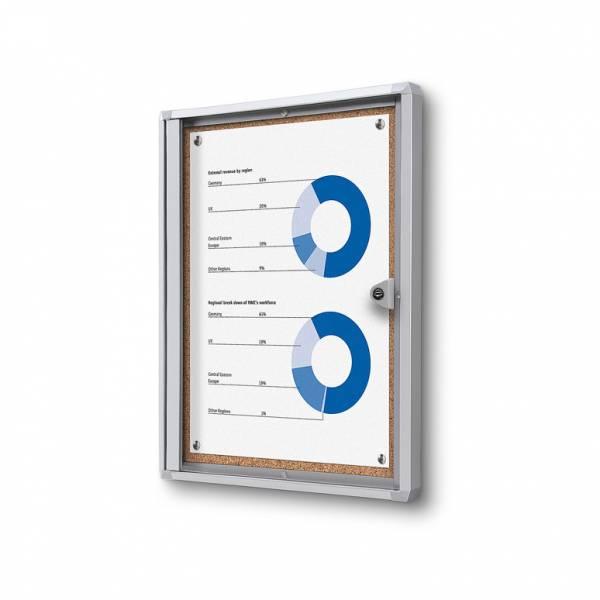 ECO Zárható beltéri vitrin parafa 1xA4