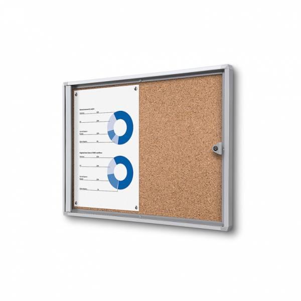 ECO Zárható beltéri vitrin parafa 2xA4