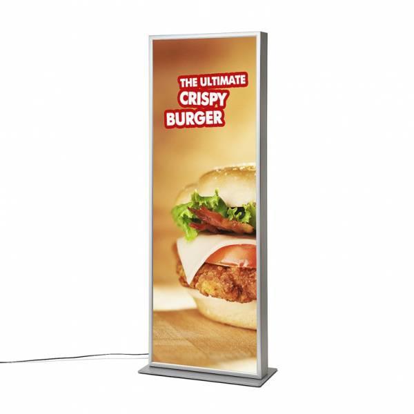LED Kétoldalas Világító Totemoszlop poszterkerettel 70x100