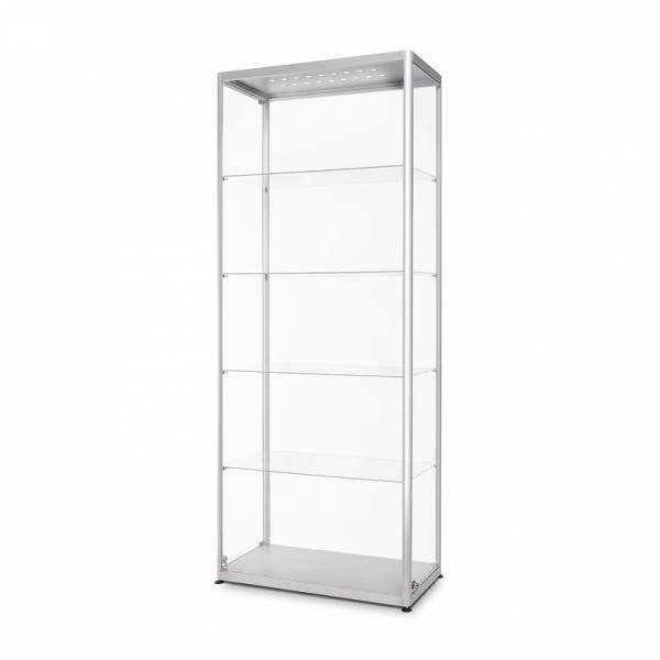 LED Világító Üveg Vitrinszekrény 800x400x2000mm